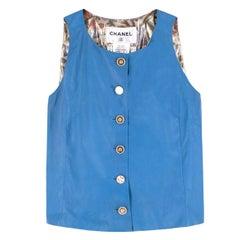 Chanel Blue Lambskin Vest  FR 36