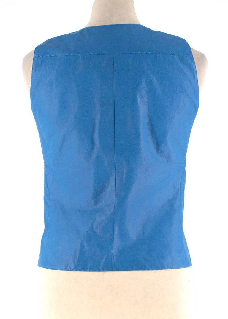 Women's Chanel Blue Lambskin Vest - Size US 4 For Sale
