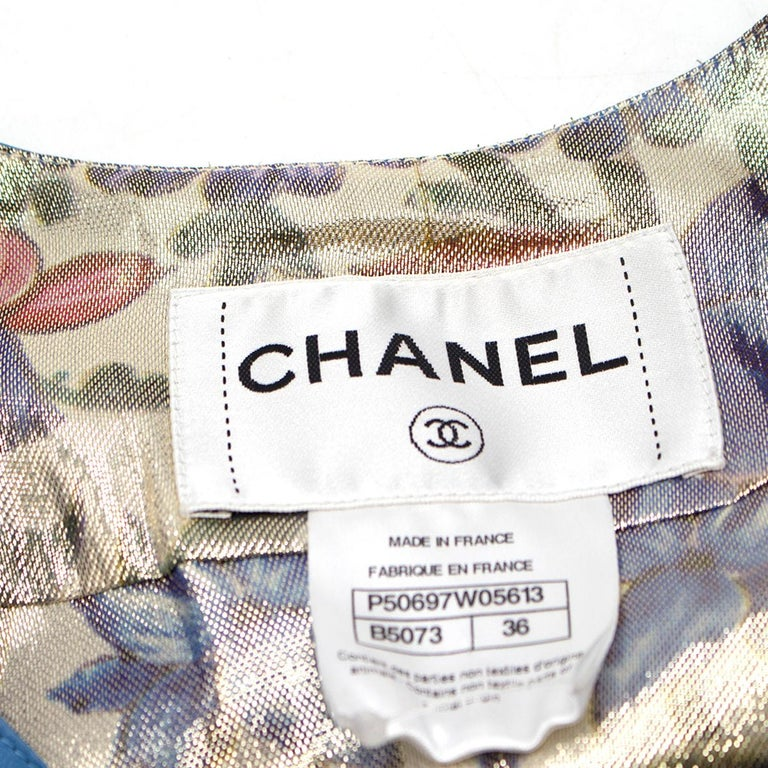 Chanel Blue Lambskin Vest - Size US 4 For Sale 2
