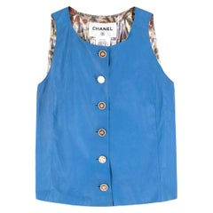 Chanel Blue Lambskin Vest - Size US 4