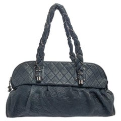 Chanel Blue Leather Leather Lady Braid Bag