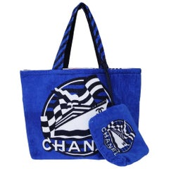 Chanel blue multicoloured La Pausa sea shoulder bag