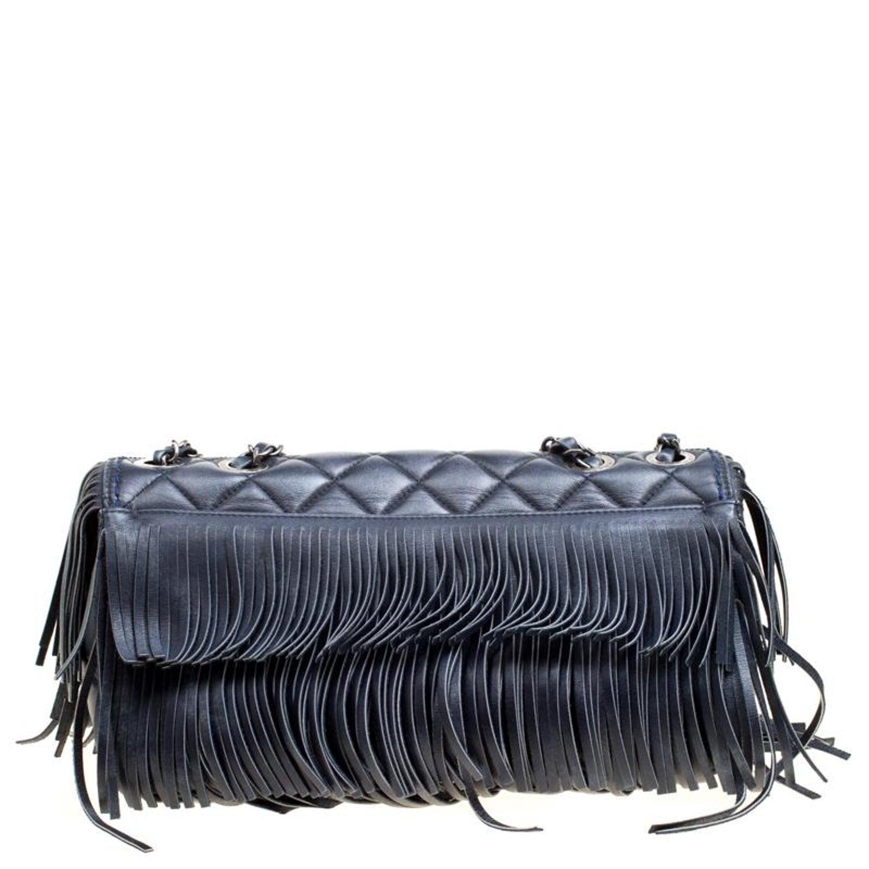 Chanel Blue Quilted Leather Paris Dallas Fringe Flap Shoulder Bag For Sale  at 1stdibs 70dfec0de4921