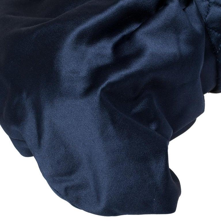 Chanel Blue Satin 2.55 Reissue Ribbon Shoulder Bag For Sale 1