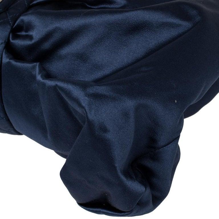 Chanel Blue Satin 2.55 Reissue Ribbon Shoulder Bag For Sale 2