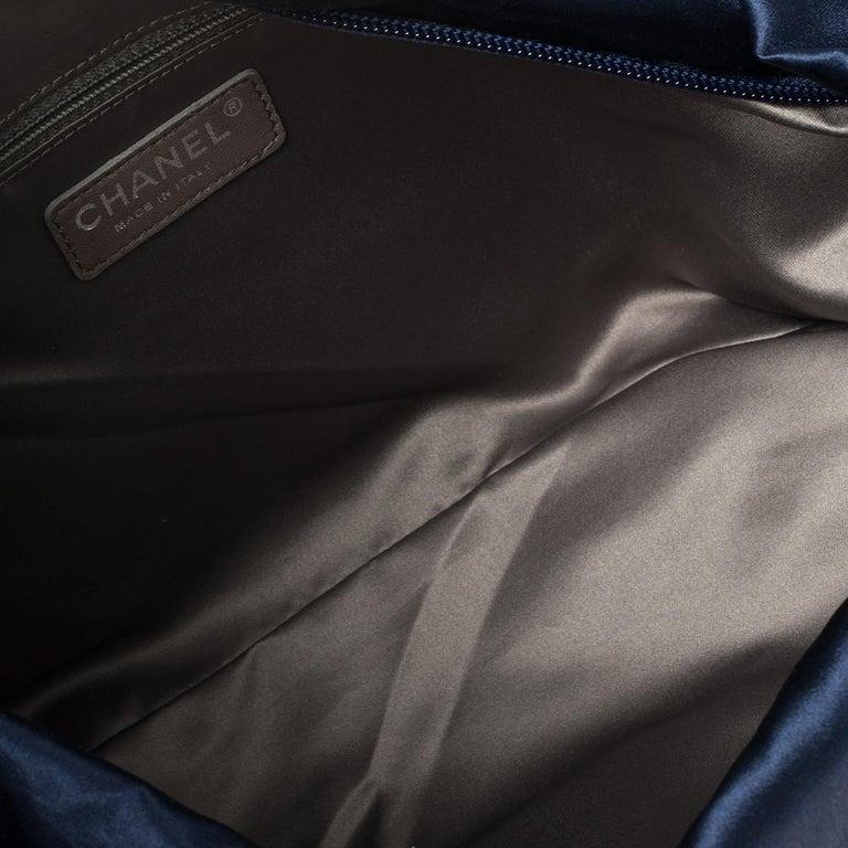 Chanel Blue Satin 2.55 Reissue Ribbon Shoulder Bag For Sale 3