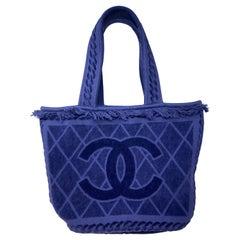 Chanel Blue Towel Tote Bag
