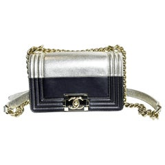 Chanel  Bold Two Tone Boy Flap Bag From 2015/2016 Fall/Winter Collection