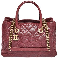 Chanel Bordeaux Glazed Caviar Shiva Tote Bag