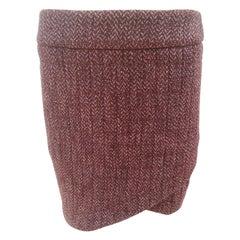 Chanel bordeaux wool skirt