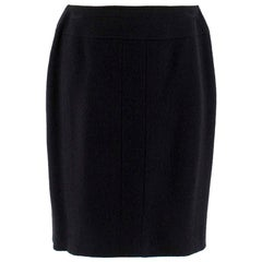 Chanel Boutique Black Woven Skirt - Size US 10