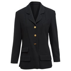 Chanel Boutique Black Notch-Lapel Blazer