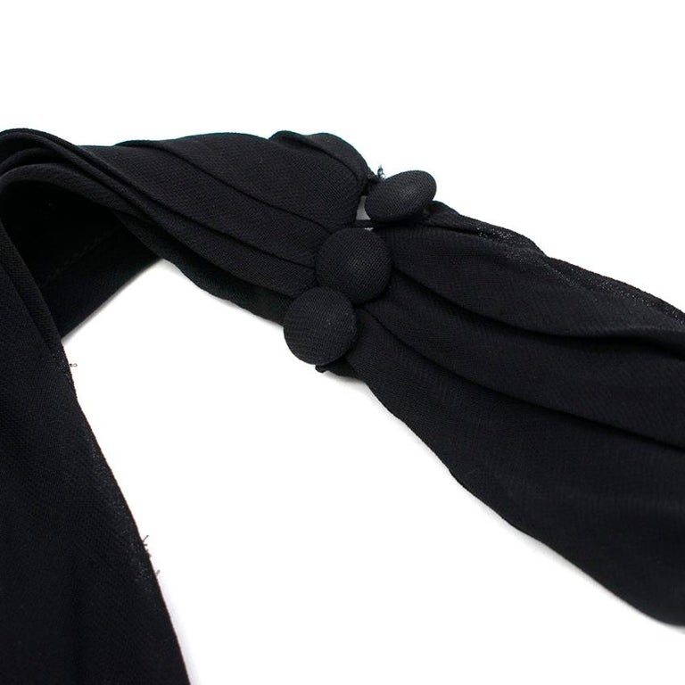 Chanel Boutique Black Silk Pleated Halterneck Dress - Size US 6 In Excellent Condition In London, GB