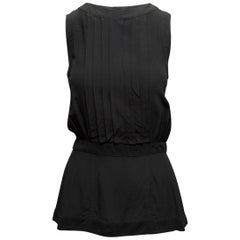 Chanel Boutique Black Sleeveless Top