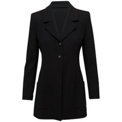Chanel Boutique Black Wool Blazer