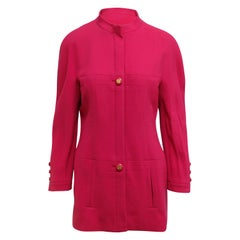 Chanel Boutique Bright Pink Coat