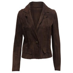 Chanel Boutique Brown Suede Blazer