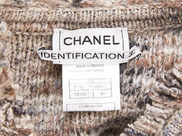 Women's Chanel Boutique Knit Cardigan with Fringe Detail For Sale