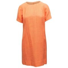 Chanel Boutique Light Orange Short Sleeve Dress