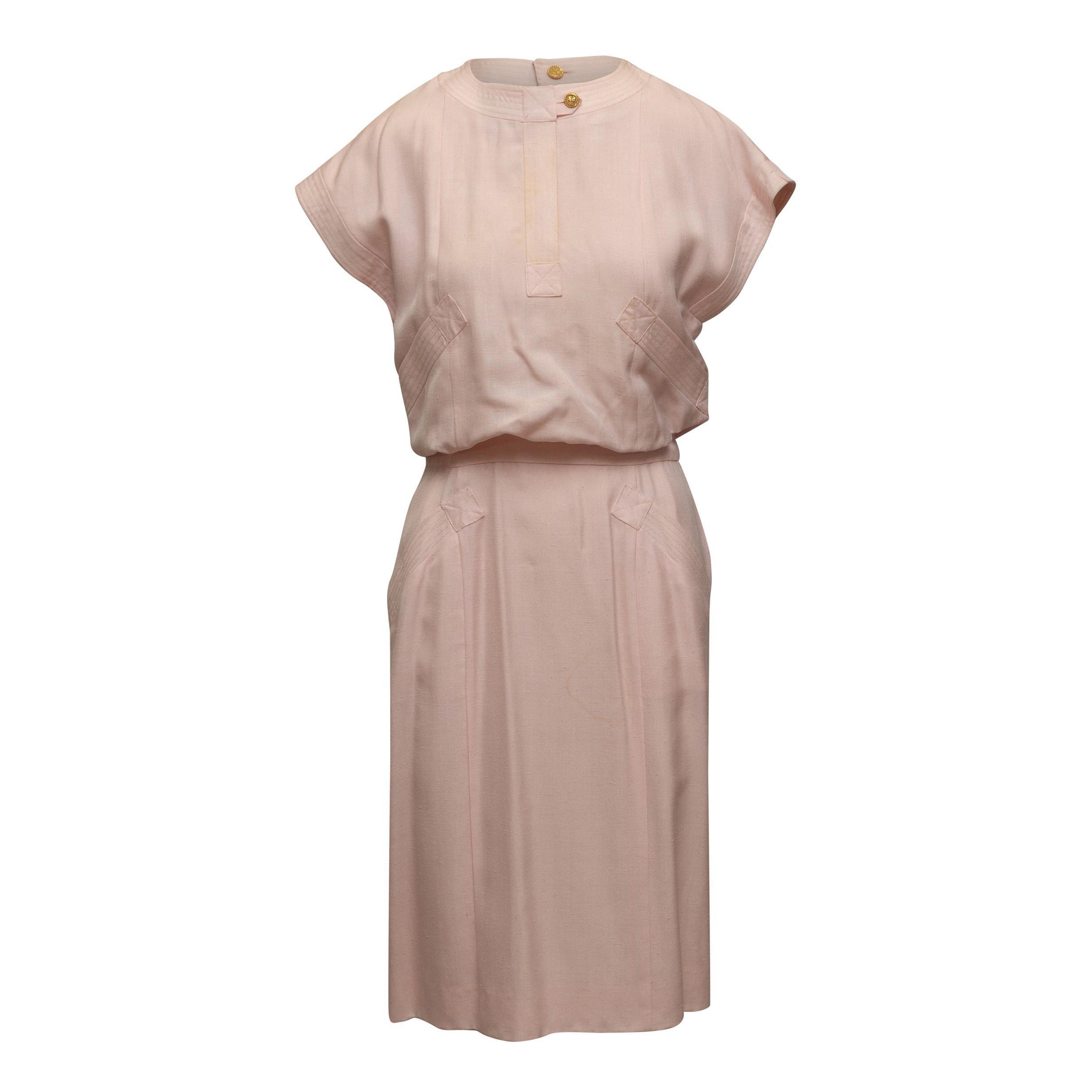 Chanel Boutique Light Pink Short Sleeve Dress
