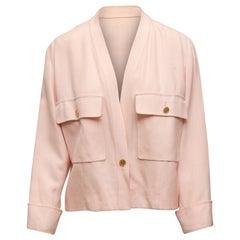 Chanel Boutique Light Pink V-Neck Jacket