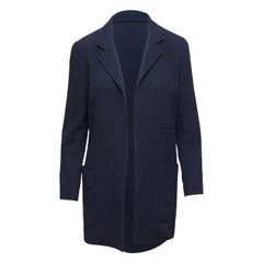 Chanel Boutique Navy Open Front Jacket
