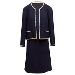 Chanel Boutique Navy & White Skirt Suit