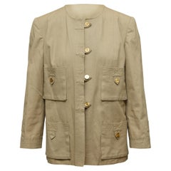 Chanel Boutique Tan Canvas Jacket