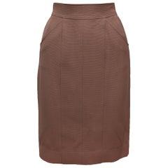 Chanel Boutique Tan Pencil Skirt