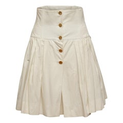 Chanel Boutique White High-Waisted Skirt