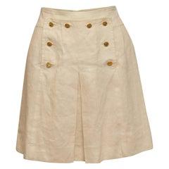 Chanel Boutique White Sailor Skirt