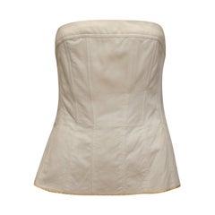 Chanel Boutique White Strapless Corset Top