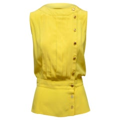 Chanel Boutique Yellow Sleeveless Top