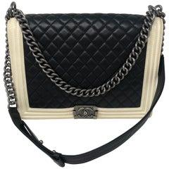 Chanel Boy Bag Black and White