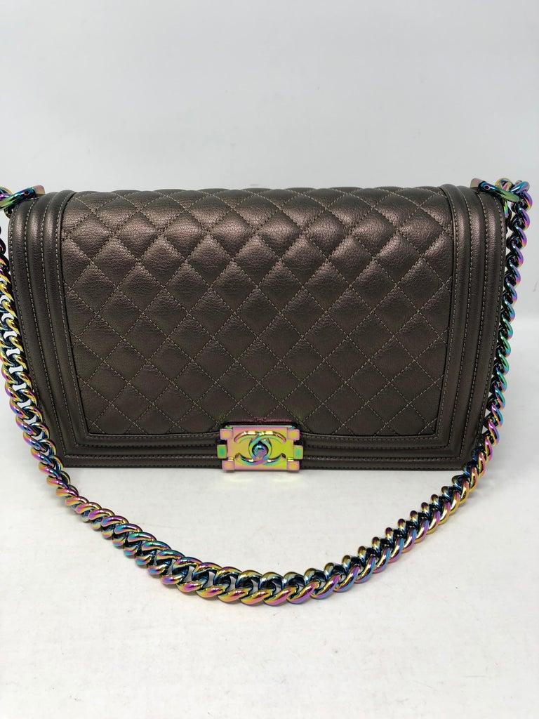 9c0a90b2b70a7d Chanel Boy Bag Bronze Mermaid For Sale at 1stdibs