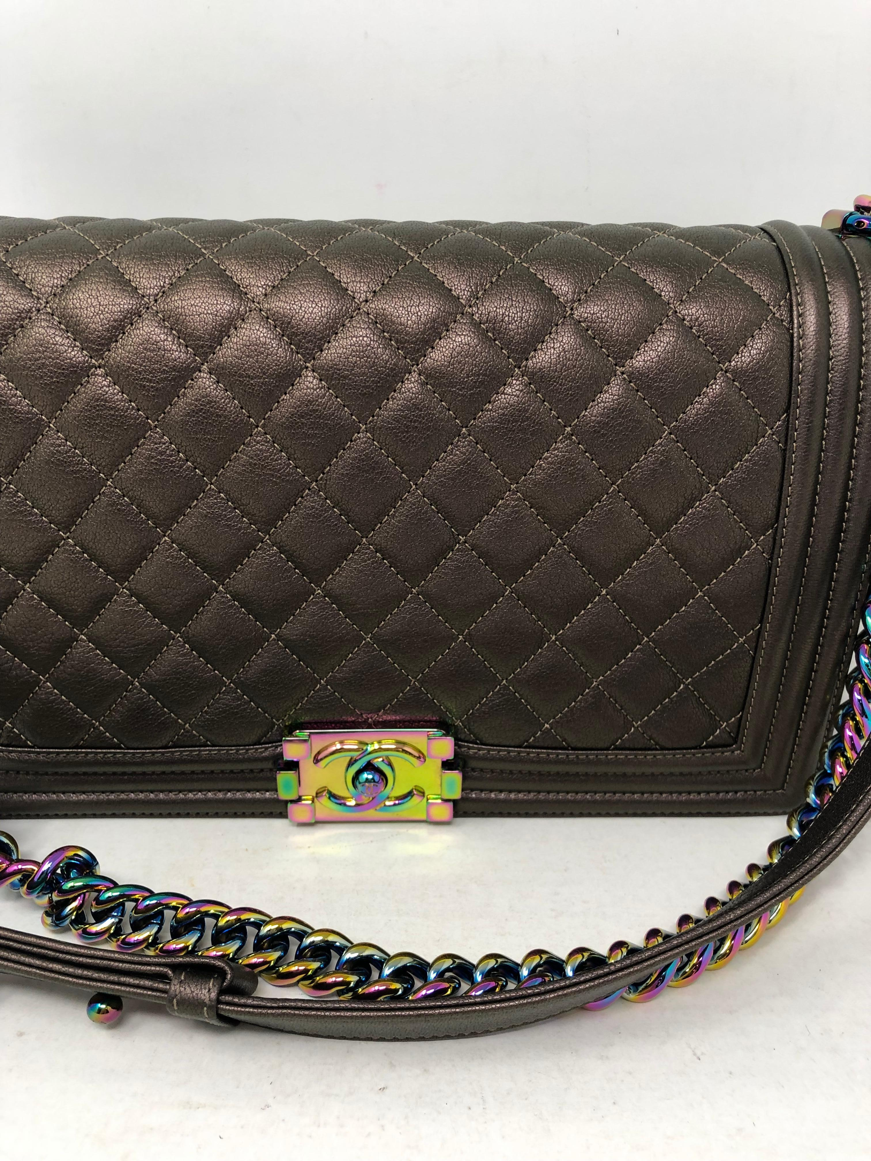 e8390861f0ee Chanel Boy Bag Bronze Mermaid For Sale at 1stdibs