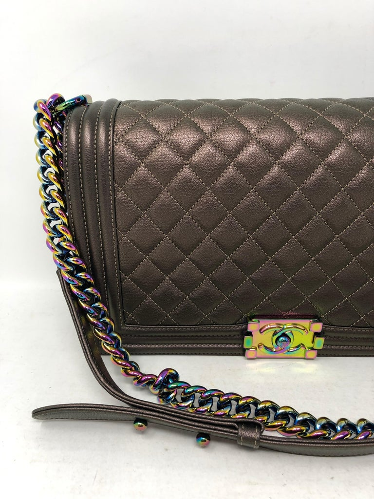 a9303fbd8aba Chanel Boy Bag Bronze Mermaid For Sale at 1stdibs