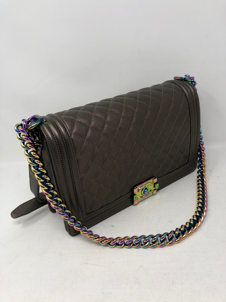 7aa8cd801fe5 Chanel Boy Bag Bronze Mermaid In New Condition For Sale In Athens