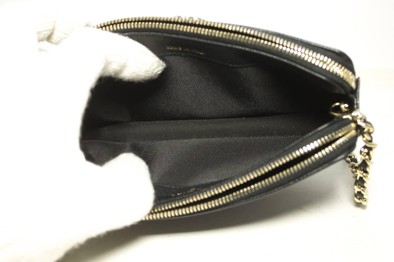4b054000d612 CHANEL Boy Black Caviar Wallet On Chain WOC Zipper Shoulder Bag For Sale at  1stdibs