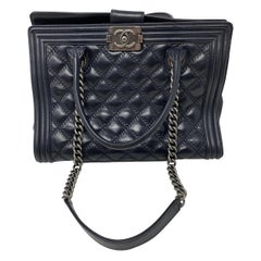 Chanel Boy Black Tote