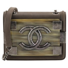 Chanel Boy Brick Flap Bag Iridescent Calfskin and Plexiglass Mini