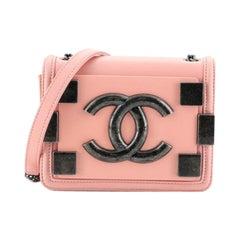 Chanel Boy Brick Flap Bag Lambskin And Plexiglass Mini