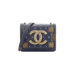 Chanel Boy Brick Flap Bag Studded Quilted Lambskin Mini