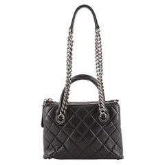 Chanel Boy Chained Tote Quilted Calfskin Small