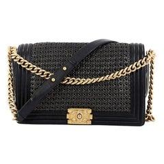 Chanel Boy Flap Bag Braided Sheepskin New Medium