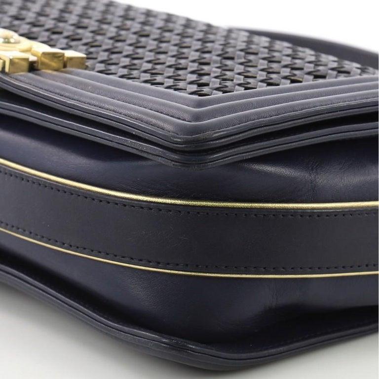 b69fd1d0f8d8cc Chanel Boy Flap Bag Braided Sheepskin Old Medium For Sale 1