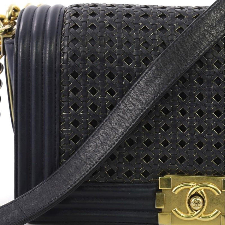 c82b0cb984af72 Chanel Boy Flap Bag Braided Sheepskin Old Medium at 1stdibs