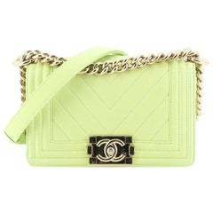 Chanel Boy Flap Bag Chevron Calfskin Small