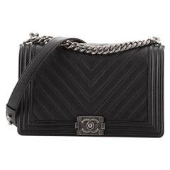 Chanel Boy Flap Bag Chevron Caviar New Medium