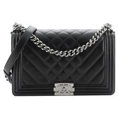 Chanel Boy Flap Bag Chevron Lambskin New Medium